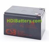 Batería para Caravana 12v 12ah Plomo AGM GP12120 CSB